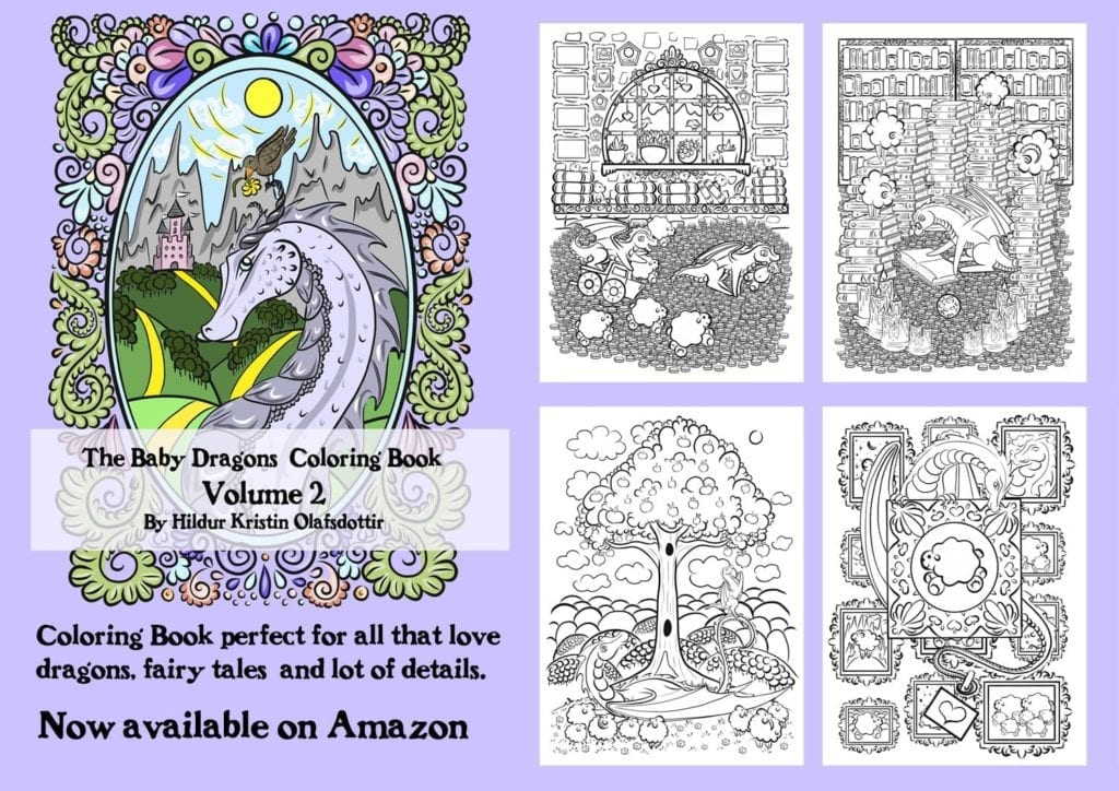 The Baby Dragons Coloring Book Volume 2