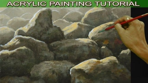 Acrylic Painting Tutorial On How To Paint Basic Rocks On