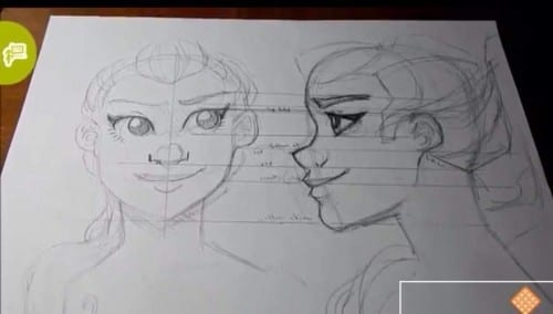 Line Drawing Of Child S Face : How to draw the face in profile tutorial with drawingwiffwaffles