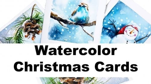 Watercolors Easy Holiday Cards Painting Tutorial With Maria Raczynska Cute And Charming Christmas By