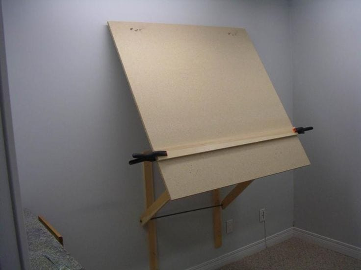 Diy How To Make A Cheap Wall Easel For Your Art Studio