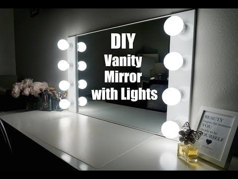 How To Diy A Makeup Mirror With Lights Hildur K O Art
