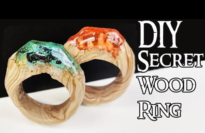 HOW TO MAKE SECRET WOOD RINGS (NO POWER TOOLS) Tutorial