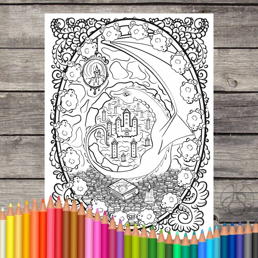 Digital Dragon Coloring Pages
