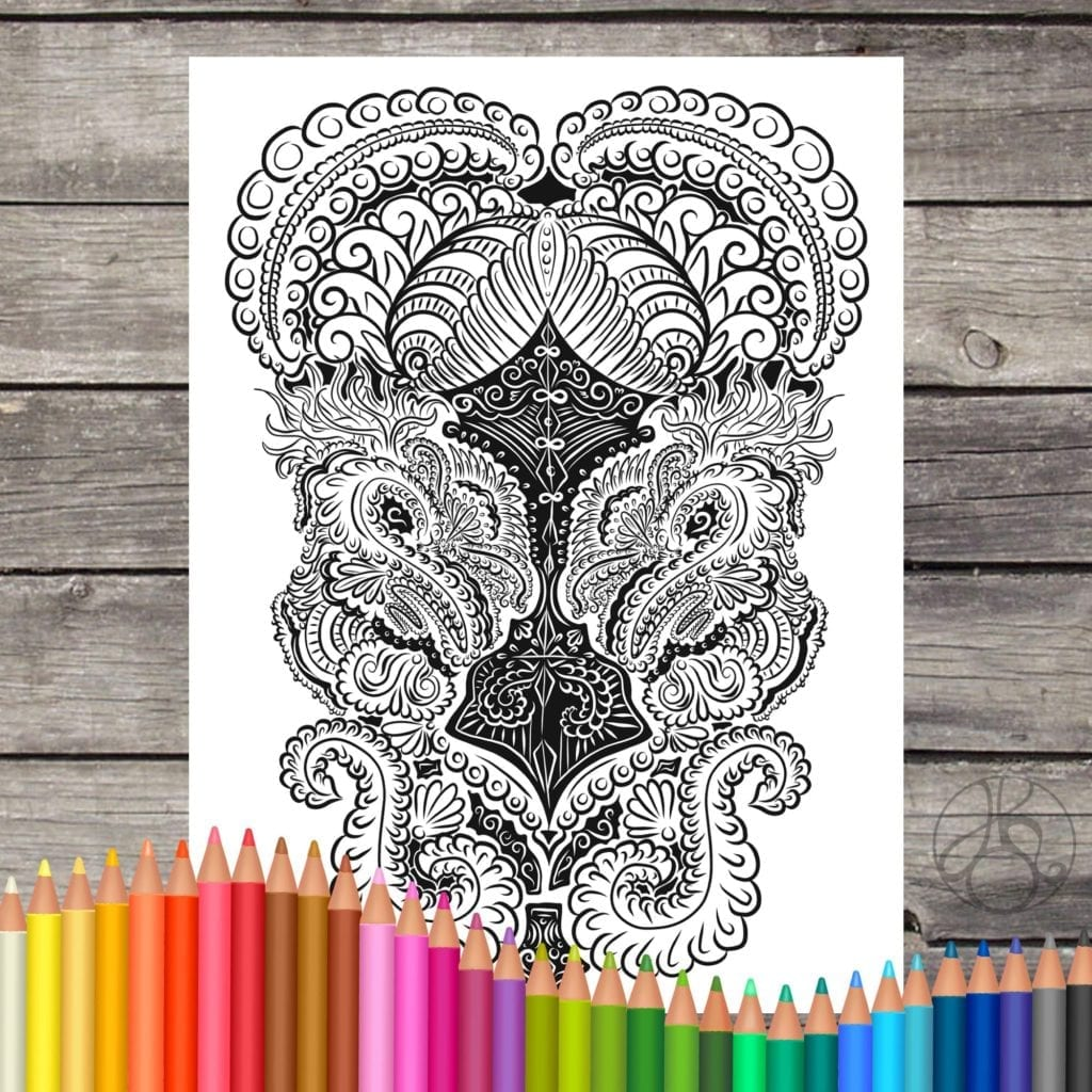 Digital Grown up Coloring Pages