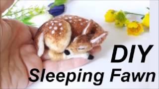 2d0b3fdc6 DIY NEEDLE FELT SLEEPING FAWN TUTORIAL KIT with THE WISHING SHED –  Hildur.K.O art blog & shop