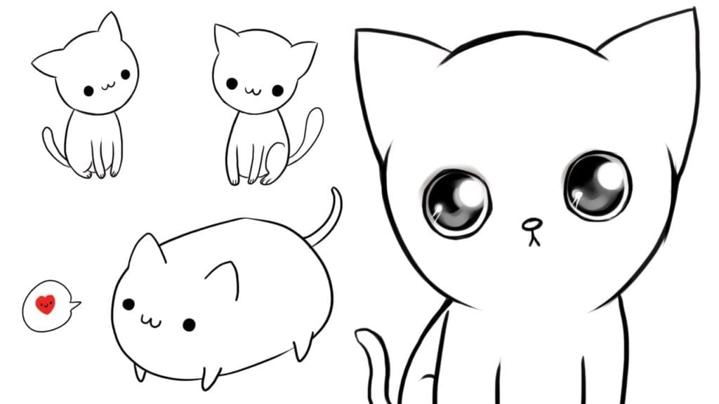 3 Ways To Draw Cute Cats With Goatal Recall