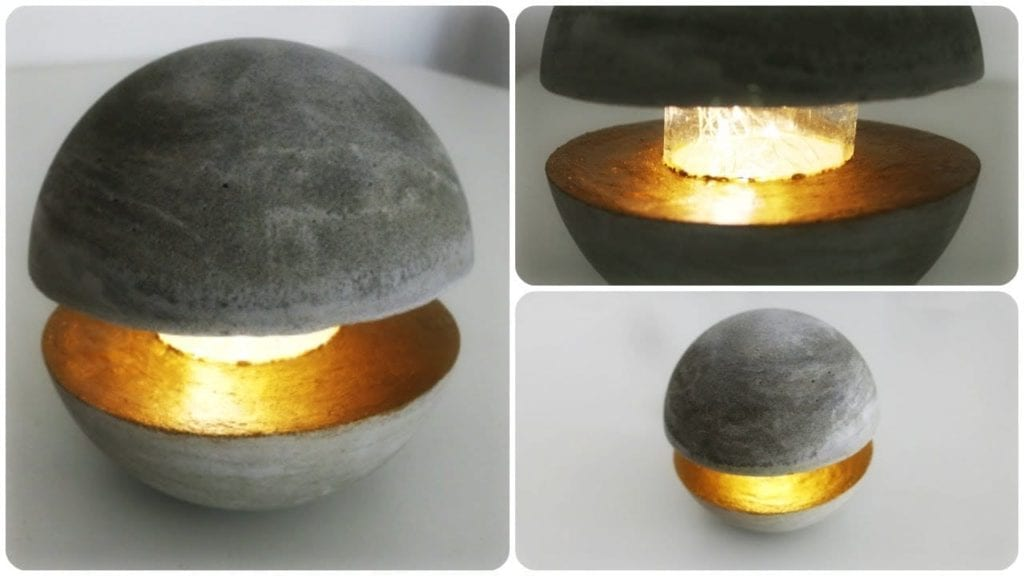 betonlampe diy concrete lamp by so0onita hildur k o. Black Bedroom Furniture Sets. Home Design Ideas