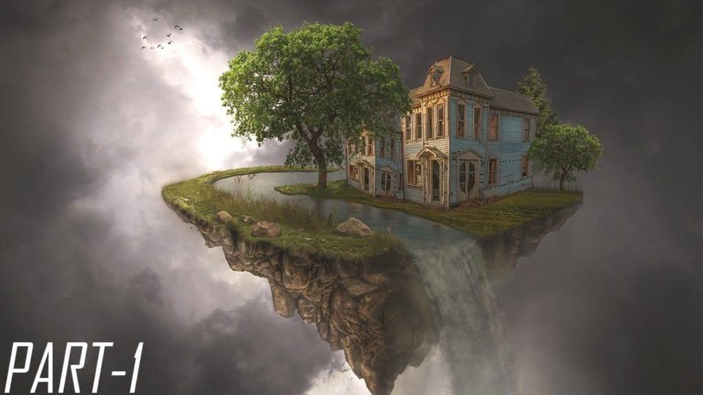 Dream Home Waterfall Photoshop Manipulation By Arunz