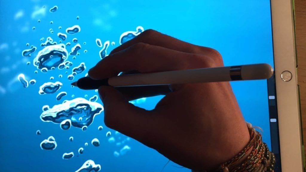HOW TO DRAW BUBBLES UNDERWATER Apple Pencil Drawing Tutorial IPad