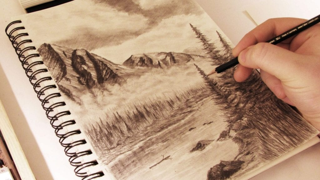 How To Draw Mountains In The Mist By Tylersartshack Hildur K O
