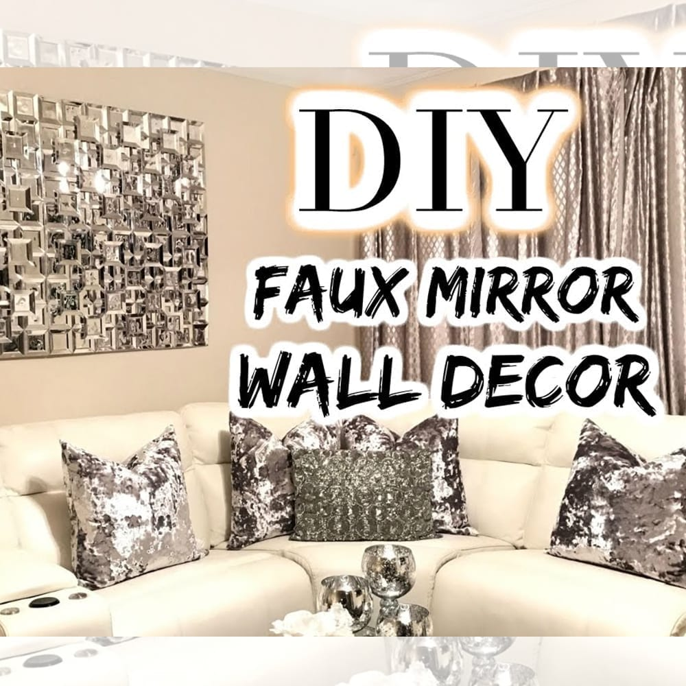 Tree Decor For Home: DOLLAR TREE DIY Faux Mirror By LGQUEEN Home Decor
