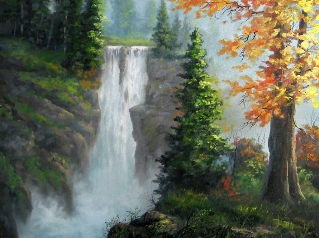 Paint With Kevin Hill Rushing Waterfall Hildur K O Art