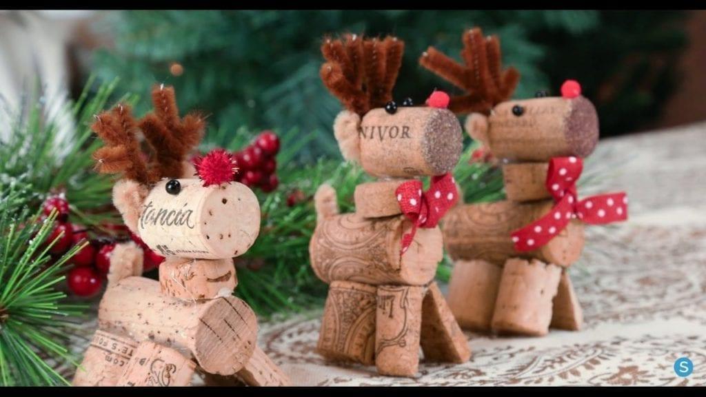 Reindeer Wine Cork Diy Christmas Ornament By Simplemost Hildur K O