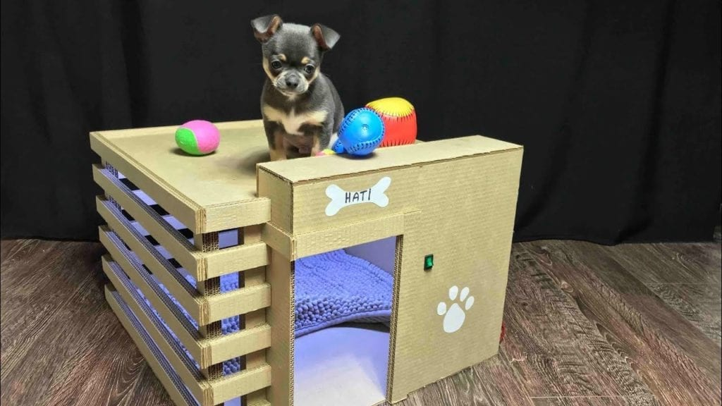 How To Make Amazing Puppy Dog House From Cardboard Hildur K O