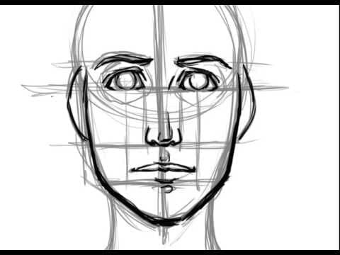 how to draw a perfect face