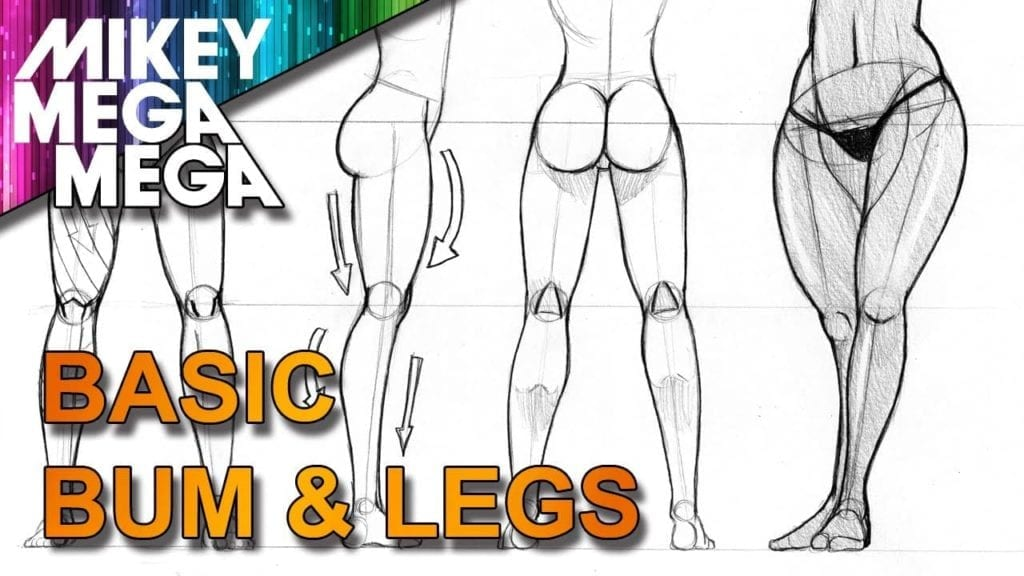 How To Draw FEMALE MANGA BUMS AND LEGS with MIKEY MEGA MEGA » Hildur.K.O