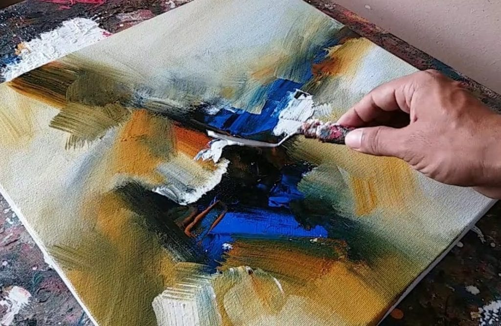 Abstract Painting Demonstration Easy Blending And Palette