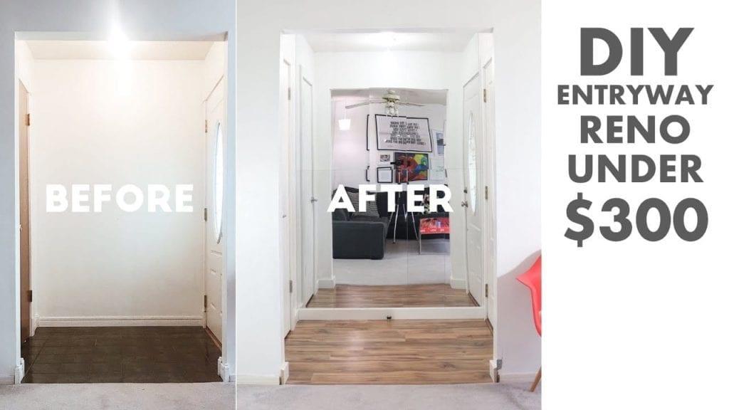 Foyer Diy Guide : Diy entryway foyer renovation under modern builds