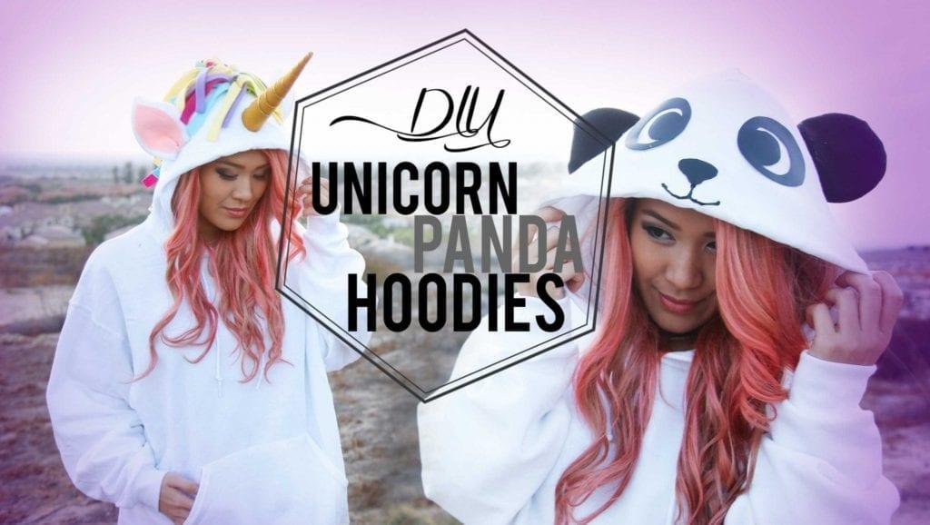 Diy Unicorn Amp Panda Costume Tumblr Hoodies Ann Le