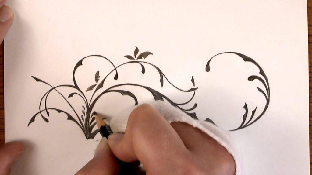 Drawing Time Lapse A Simple Floral Design With Pencil Hildur