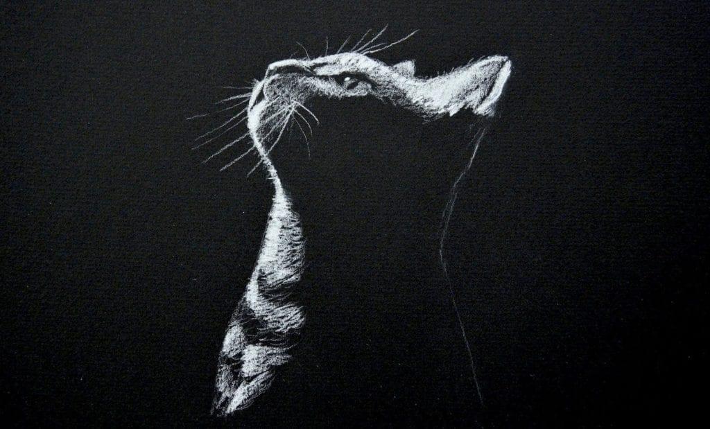 White charcoal drawing hildur k o art blog