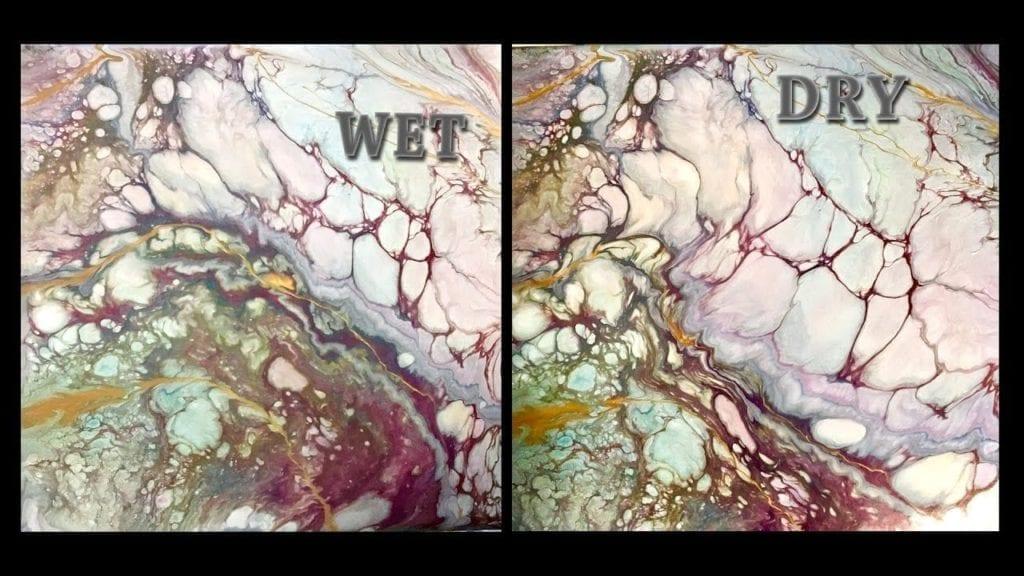 Fluid Acrylic Painting Technique Dirty Pour Flip Cup Hidden