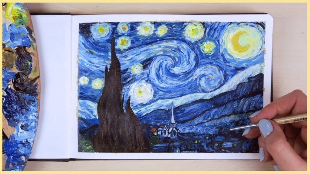 Glasses Case Vincent Van Gogh Art Oil Painting Starry Night Zipper Soft Sunglasses Ball Pen Bag Protective Pouch
