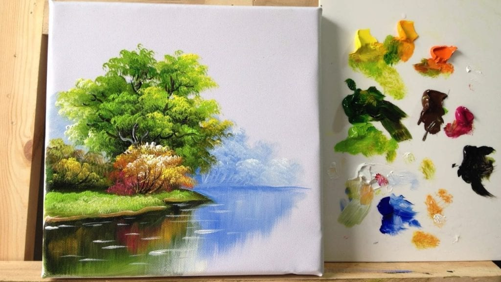 How to paint trees and bushes in acrylics » Hildur.K.O