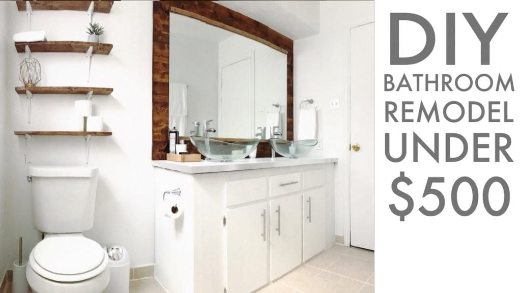 remodeling a bathroom for under 500 diy how to modern