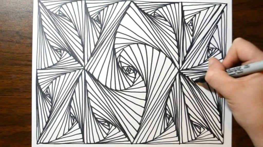 Cool Sketch Doodle Technique, Drawing A Random Pattern ...