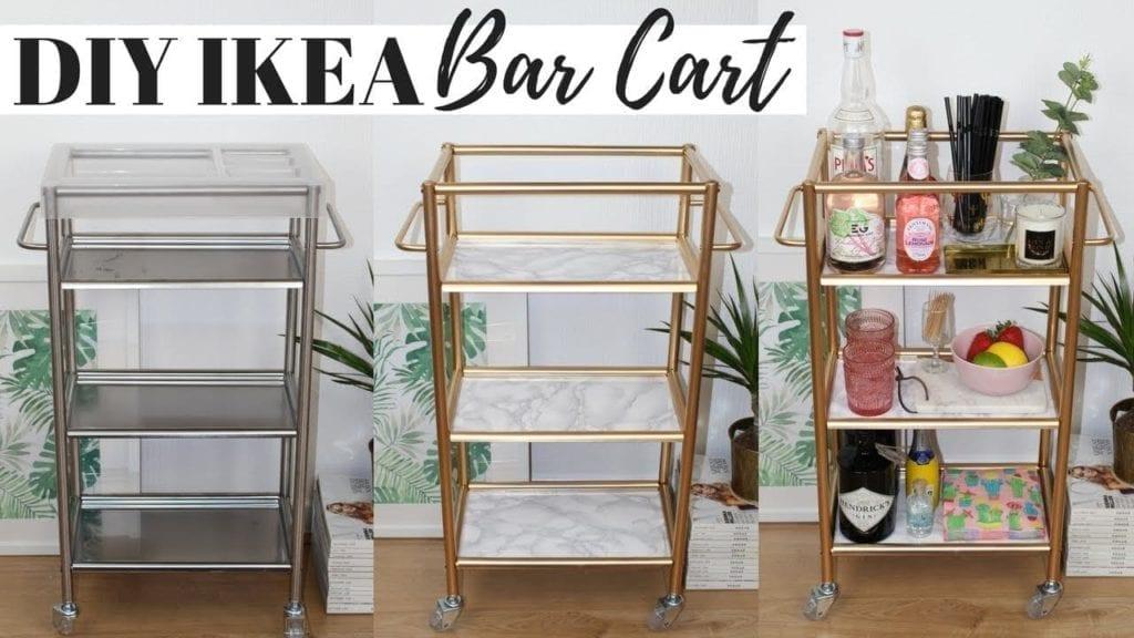 diy bar cart ikea hacks, super easy and affordable! | | hildur.k.o
