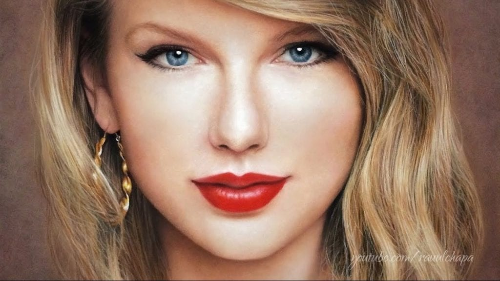 Drawing Taylor Swift Pastel Portrait Hildur K O Art