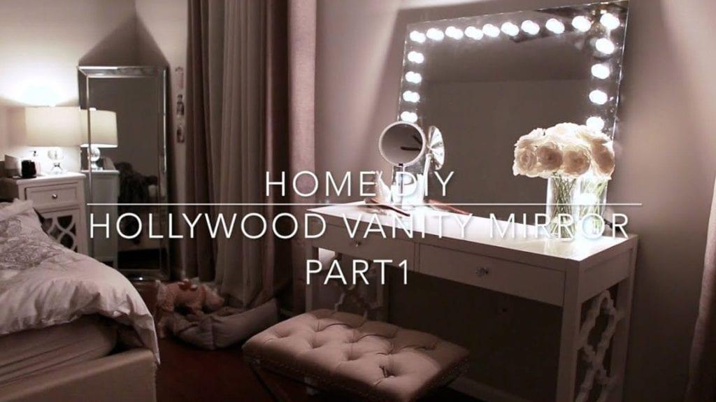 home diy hollywood vanity mirror with lights under 70 hildur k o art blog. Black Bedroom Furniture Sets. Home Design Ideas