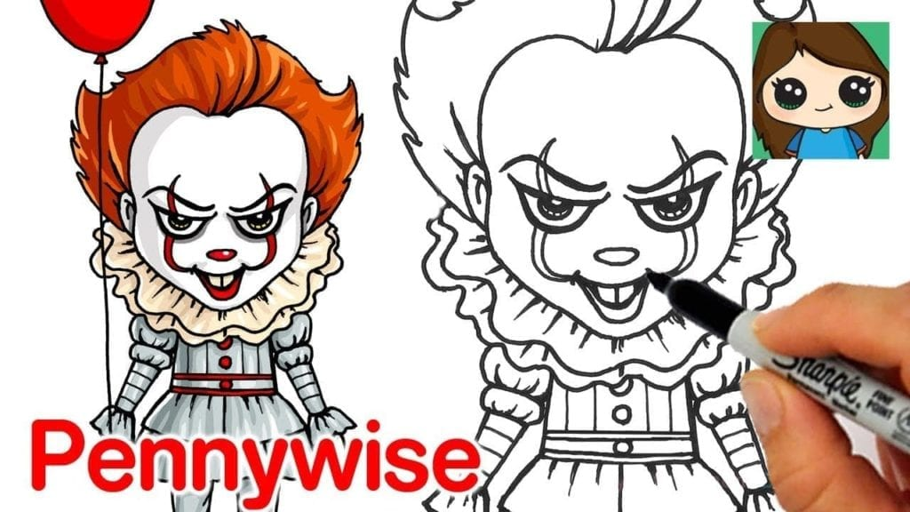 How To Draw Pennywise The Clown By Draw So Cute
