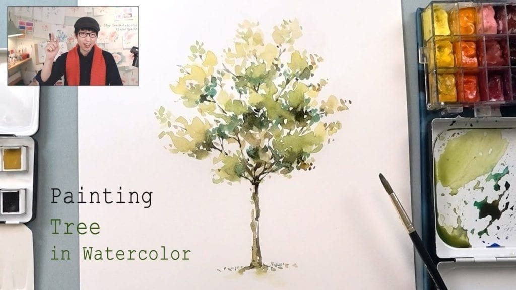 How To Paint A Tree In Watercolor Easy Step By Tutorial HildurKO