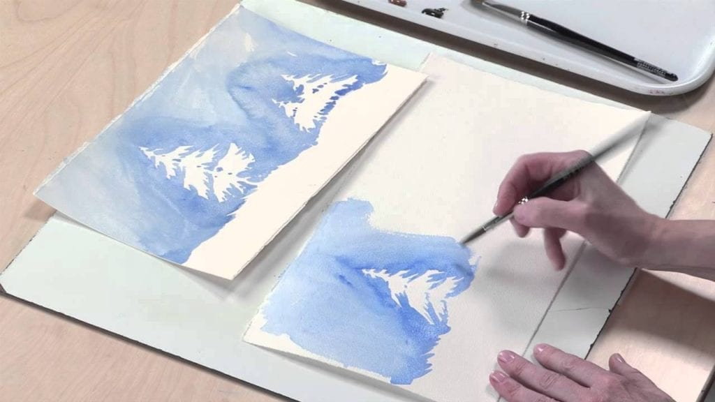 Negative Painting Techniques Watercolor Landscapes With Linda Kemp