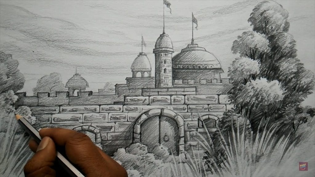 How To Draw Fort With Pencil Pencil Shading Hildur K O Art Blog Shop