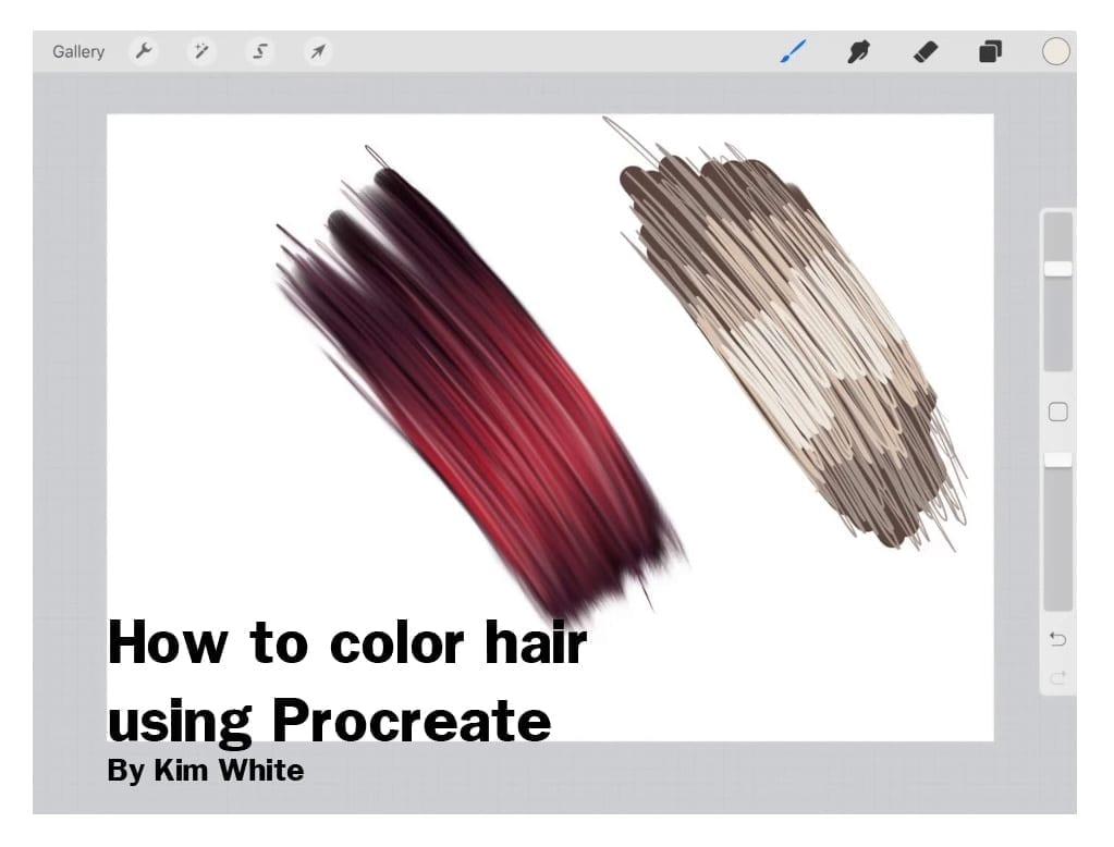 How to colour hair using Procreate app | | Hildur K O art