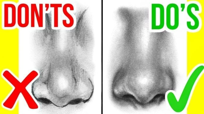 Dos Don Ts How To Draw A Realistic Nose Easy Step By Step Art