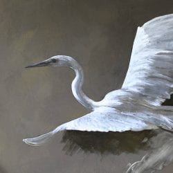 Paint A Great Egret, Fast Motion Demo, Bird Oil Painting on Clay Paint, Techniques Tutorial