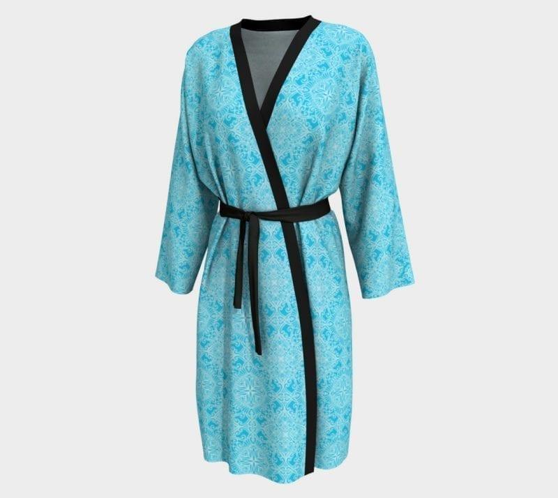 Light Blue Tabitha, Peignoir Robe