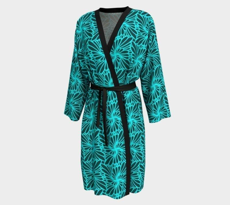 Turquoise Paisley, Peignoir Robe