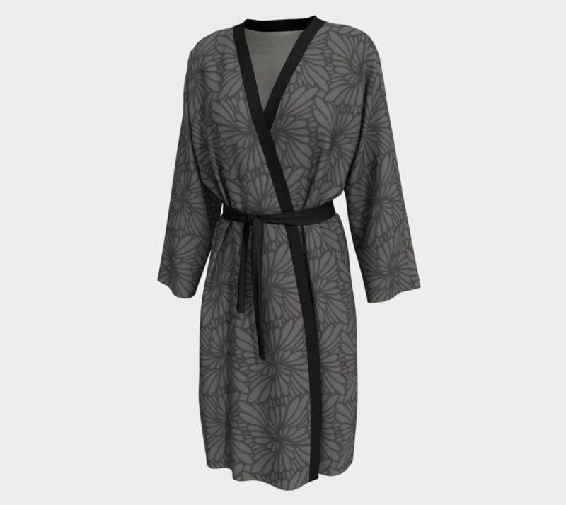 Gray Paisley, Peignoir Robe