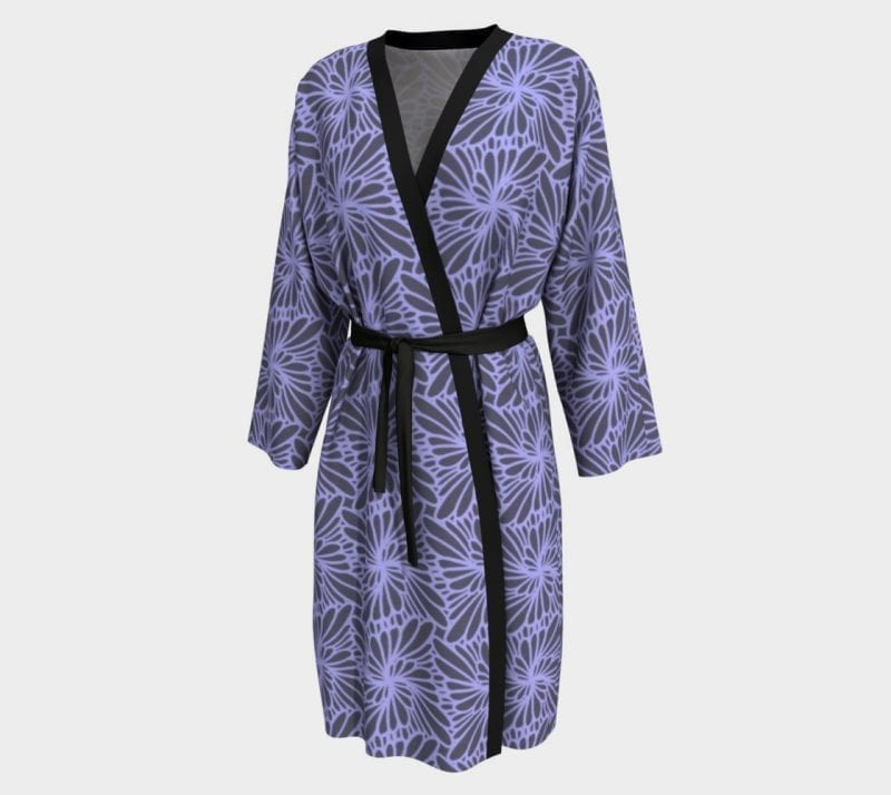 Lilac Paisley, Peignoir Robe