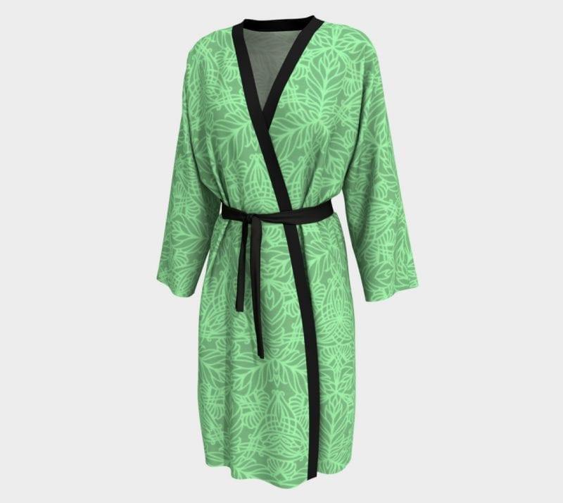 Bright Green Deja, Peignoir Robe