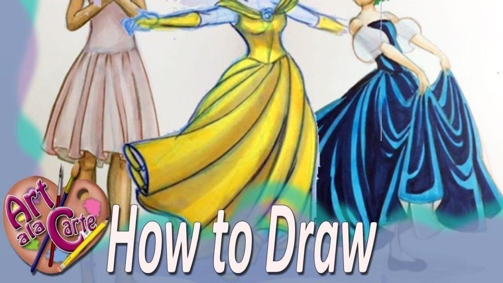 badd89e6b How to DRAW folds in Dresses – Hildur.K.O art blog & shop