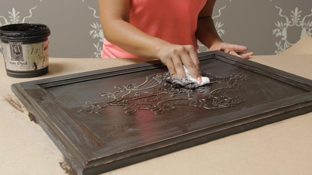 How To Stencil On Wood Tutorial Create A Carved Wood Effect