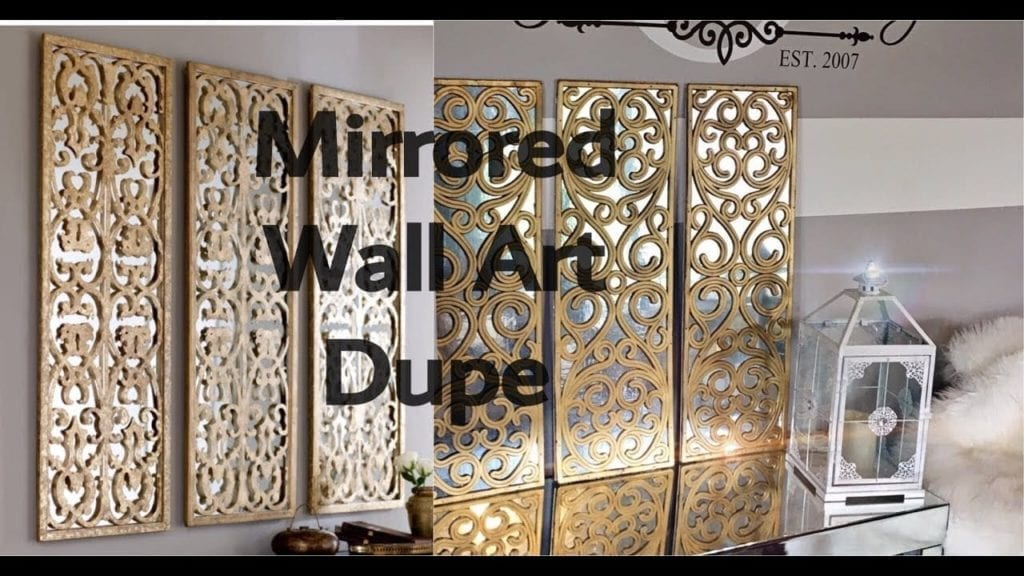 Diy Home Decor How To Make A 3 Panel Faux Mirror Wall Art