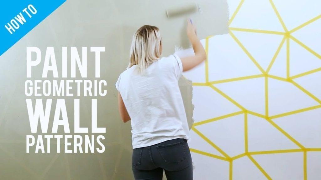 Diy Painted Geometric Wall Decor Hildur K O Art Blog Shop